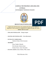 Aplicación del bioensayo de germinación de Lactuca Sativa y Raphanus Sativus para la evaluación de calidad de agua del curso inferior del rio Lurín
