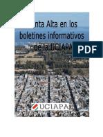 Punta Alta en Los Boletines Informativos  de La UCIAPA