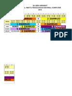 Jadual Waktu Kelas 2015