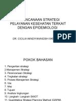 Perencanaan Strategi Pelayanan Kesehatan Terkait Dengan Epidemiologi