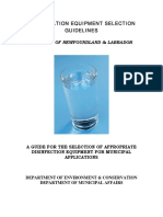 Chlorination Equipment Selection Guidelines