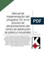 Manual Para La Implementacion de 5s en El Cedis de Plasticos Industriales
