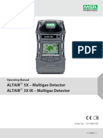 Mult Gas Dector Portable ALTAIR 5X - ALTAIR 5X IR Operating Manual - GB.pdf