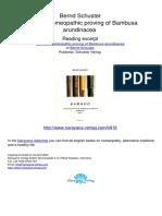 Bamboo Homeopathic Proving of Bambusa Arundinacea .00918 2The Idea of Bamboo