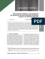 Corte Suprema despoja a los propietarios por deudas de terceros afectando el derecho humano a la vivienda adecuada - Gunther Gonzales Barrón.pdf