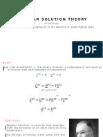 Regular Solution Theory