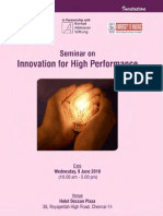Innovation for High Performance