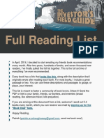 Full Reading List - Investor's field guide