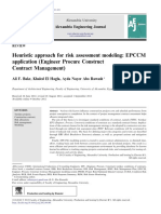 Heuristic approach for risk assessment modeling