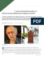 Christian Ferrer_ _Como Voluntad de Poder, La Técnica Va Por Delante de Cualquier Control_ - 26.06