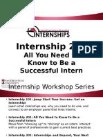 internship 201 workshop video