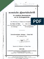 Römische Quartalschrift für christliche Altertumskunde..., 1908