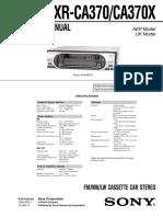 Sony Xr Ca370