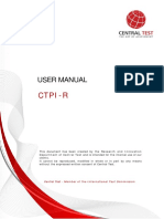 Manual - CTPI R (Central Test Personality Index - Revised)