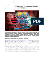 Prediksi Bola Flamengo Vs America Mineiro 26 Juli 2016