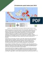 Kegempaan Di Indonesia Pada Bulan Juni 2016