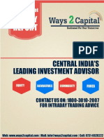 Equity Research Report 25 july 2016 Ways2Capital