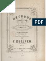 Méthode complète de clarinette - F.KELLMER - Volume 1