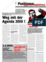 "Positionen gegen den Kapitalismus 2004-04 ""Agenda 2010"""