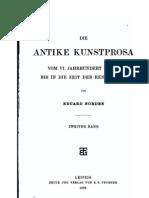 E. Norden, Die antike Kunstprosa vom VI. Jahrhundert v. Chr. bis in die Zeit der Renaissance, Bd. II,  Leipzig 1898