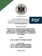 2008 Efectos de Un Programa Basado en El Juego y El Juguete Valores