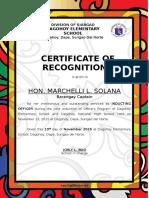 LGU Certificate