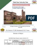 FEA Elec-IV Syllabus Implementation