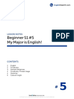 5. My Major is English - B_S1L5_080409_eclass101