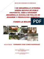Proyecto Integral de Desarrollo Agropecuario Fundo La Mulera 2015