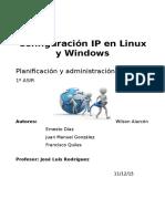 Configuracion IP Linux Windows Grupo2