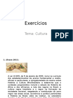 Exercícios - Tema Cultura