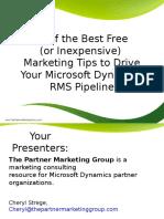 30 Marketing Tips RMS Webinar
