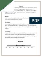 Statistcs case  Analysis