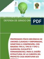 Determinacion de las Propiedades Físico-mecánicas de Uniones Clavadas y otros en Madera