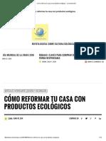 Cómo Reformar Tu Casa Con Productos Ecológicos - Conciencia Eco