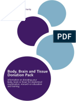 Body Brain and Tissue Donation Pack