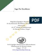 Sringeri Sharada Peetham - A Sage par excellence.pdf