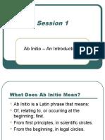 AbInitio Beginner's Course - Topic 1