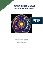 Tata Cara Sterilisasi Dalam Mikrobiologi