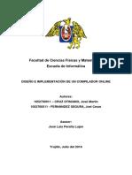 Diseño de un Compilador Online usando Flex y Bison