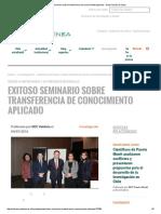 Exitoso Seminario Sobre Transferencia de Conocimiento Aplicado - Santo Tomás en Línea