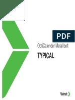 OptiCalender Metal Belt Typical Training Material En