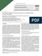Best Practice Guidelines on Molecular Diagnostics in DuchenneBecker
