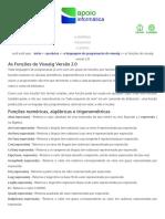 Apoio Informática - As Funções Do Visualg Versão 2
