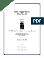 Koeller, J. Toilet Flapper Field Study Final Report