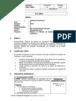 Gestion de Inventarios 2016-1 MGOSL - SILABO