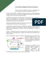 Diagrama y Descripción Del Sistema de Refrigeración Del Motor Del Automóvil