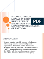 Mycobacterium Leprae in Daily Water Resources of Inhabitans