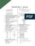 Solution Of SSC CGL Tier-1 Latest Pattern Mock Test