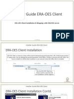 Installer Guide ERA-OES Client